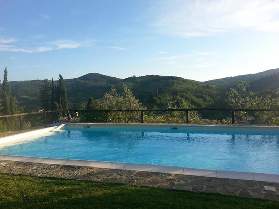Swimming at Podere Campriano