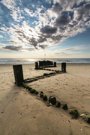 New Hunstanton beach at low tide.