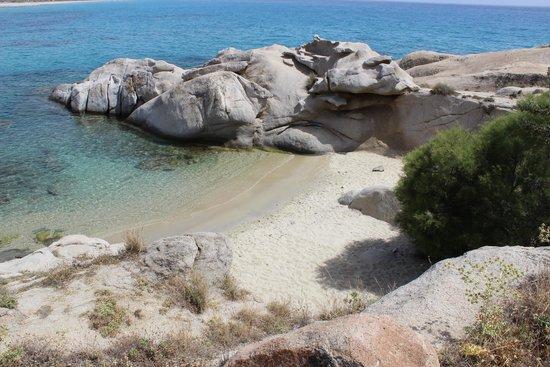 Mikri Vigla Beach: La caletta
