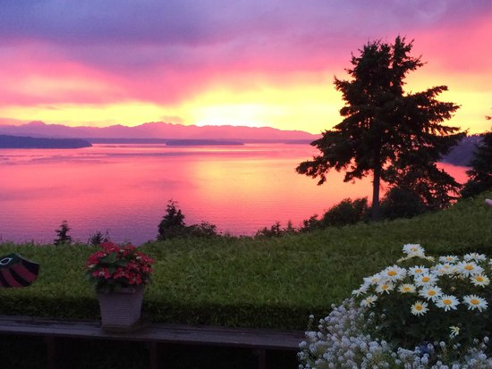 Eagle's View Bed and Breakfast, LLC: Most beautiful sunset ever- from the deck