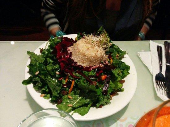 Vegetarian Haven: Kale and quinoa salad