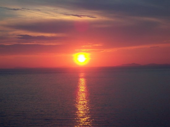 Grand Hotel Riviera: One of the beautiful sunsets as seen from our balcony.