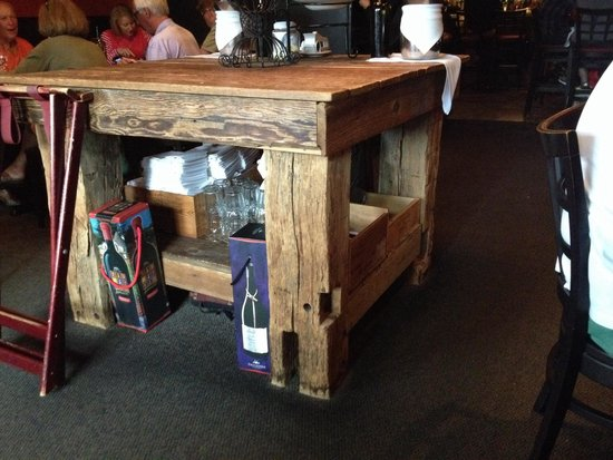 Tello Italian Bistro: One of a kind table!