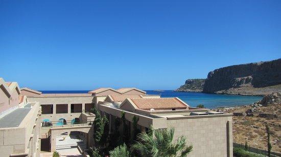 Mitsis Lindos Memories Resort Beach Hotel.: Blick in die Anlage