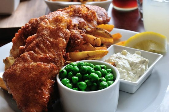 The Square At Porthleven: Fish and chips