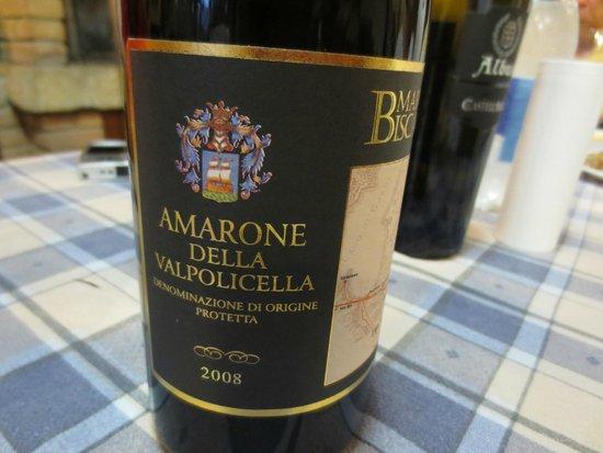 Relais Ortaglia : Terenzio's Amarone (delicious!)