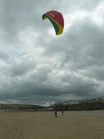 Mobius: Land Kite surfing!