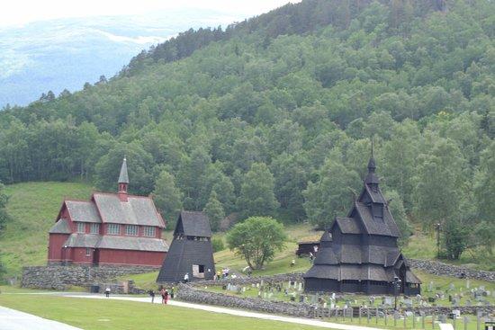 Borgund Stave Church: vista dal centro informazioni