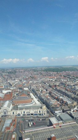 Tour et Cirque de Blackpool (Blackpool Tower and Circus) : View from the top.
