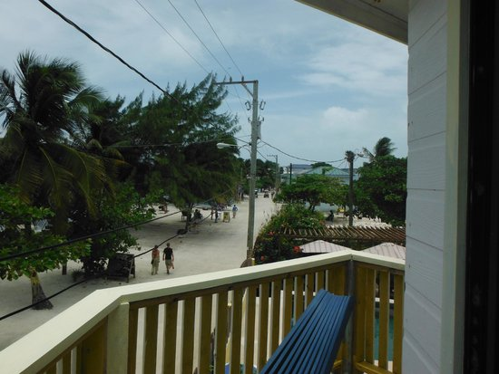 Costa Maya Beach Cabanas : Looking into downtown from our balcony
