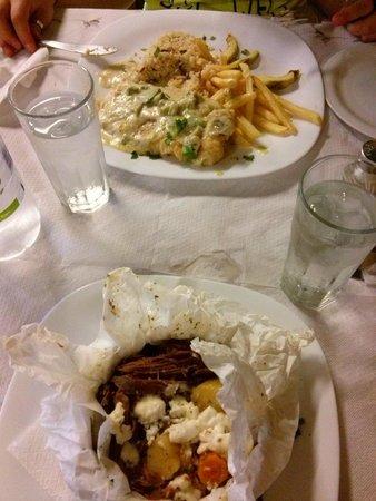 Museum Restaurant : Pesce con riso e patate e agnello stufato