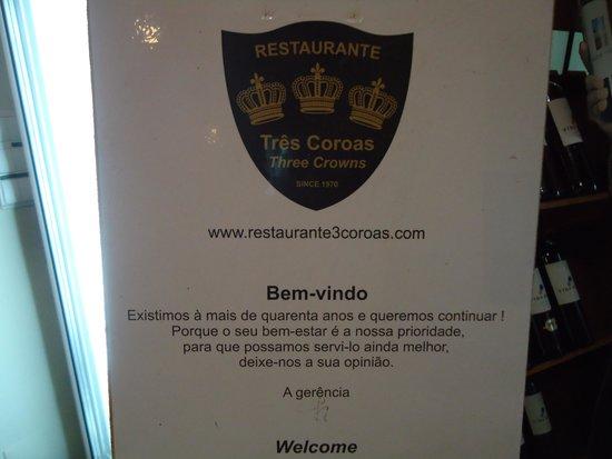 Polana Residence Hotel : RESTAURANTE TRES  CORONAS