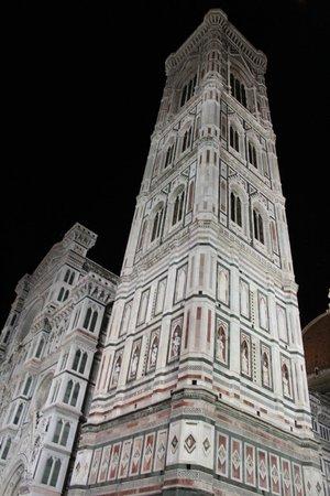 Piazza del Duomo: Night view of Santa Maria del Fiore (Duomo) built 1436