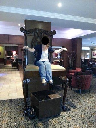 Best Western Premier Hallmark Hotel Preston Leyland: Giant chair in reception/lobby