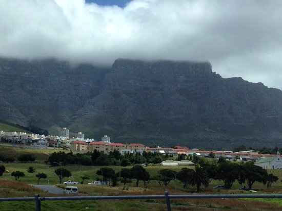 Table Mountain: Taken on the way to Cape Town city bowl from the airport.