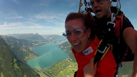 Skydive Interlaken: free falling