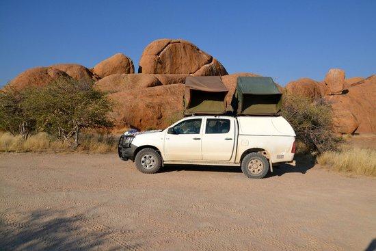 Spitzkoppe Campsites : Onze plaats op de camping