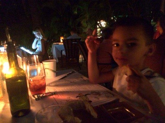 Ferraro's Bar e Ristorante: Maxy coloring at the restaurant.