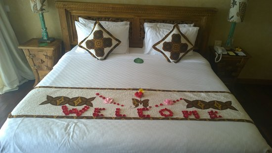 Kupu Kupu Barong Villas and Tree Spa: bed on arrival