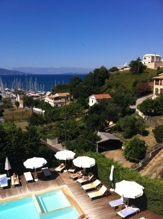 Corfu Mare Boutique Hotel: View from the balcony