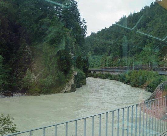 Glacier Express: Rhine river view