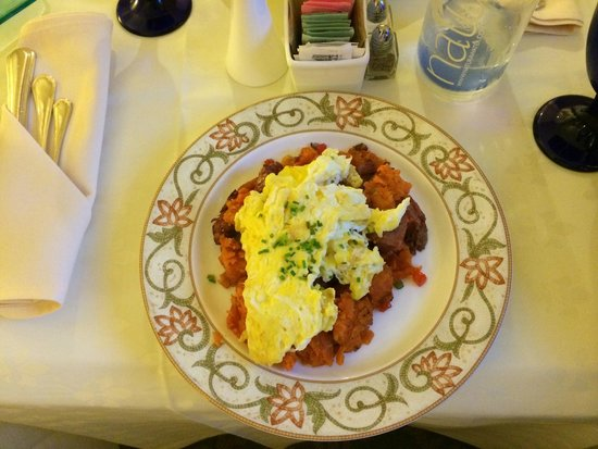The Ballantyne, Charlotte: Corn Beef Hash with Sweet Potato (taste awesome!!!)