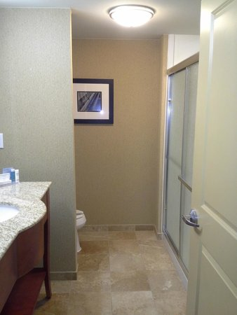 Hampton Inn Nashua: Very clean bathroom with a huge shower!
