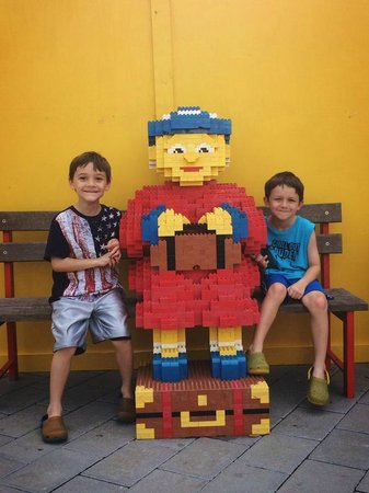 LEGOLAND Florida Resort: The old LEGO lady out front. We love her.