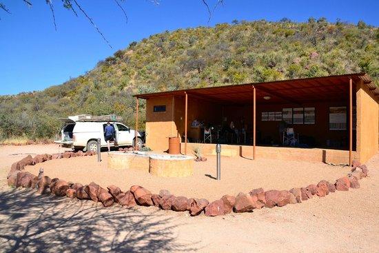 Okonjima Bush Camp : Onze campsite