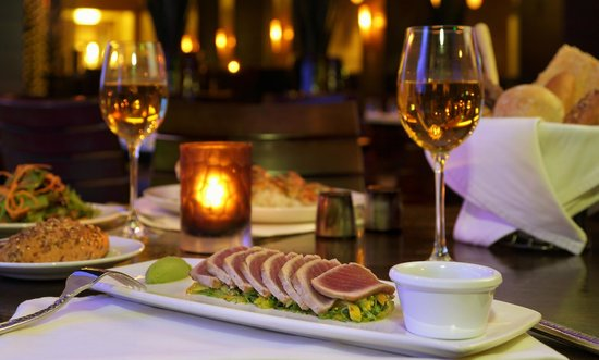 The Atlantic Grille - The Seagate Hotel & Spa : Ahi Tuna starter at the Atlantic Grille