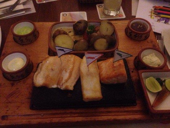 Zig Zag Restaurant: The three fish dinner.  Yum