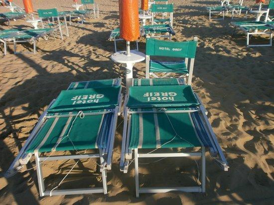 Hotel Greif: spiaggia fine giornata