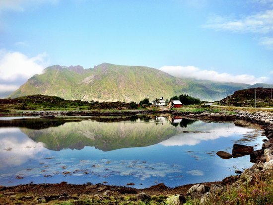 Anne Gerd's Lofoten: View from my first morning run (I ran just a few miles from the house and back)