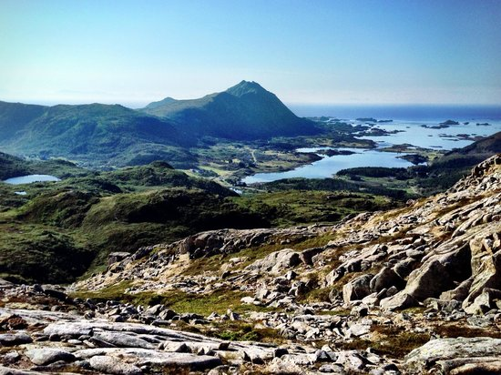Anne Gerd's Lofoten: View from another morning run (I followed one of the hikes suggested on the website)
