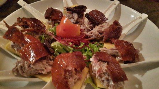 Bla Bla Bla: Mango Duck. So yummy! Crispy skin with juicy meat.
