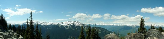Peak 2 Peak Gondola: View from Blackcomb walk
