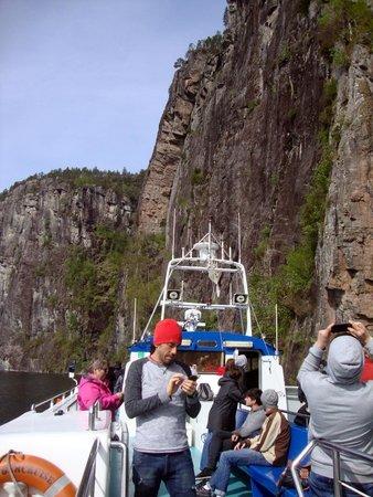 Roedne Fjord Cruise: High cliffs