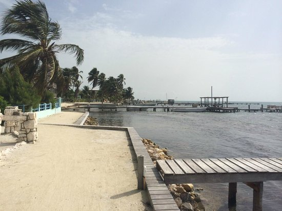 Barefoot Beach Belize: The walk just outside of the hotel, on the way to Front Street