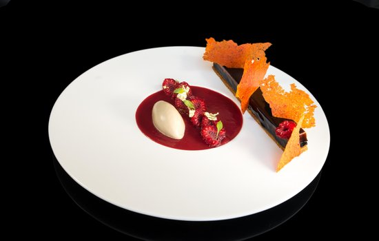 Le Grand Hotel : Finger chocolat poivron