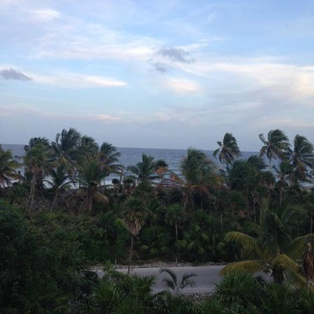 Grand Sirenis Riviera Maya Resort & Spa: Vista al mar con la selva