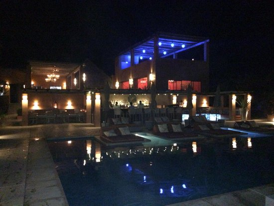 Rancho Pescadero: Nighttime view at the pool, stunning