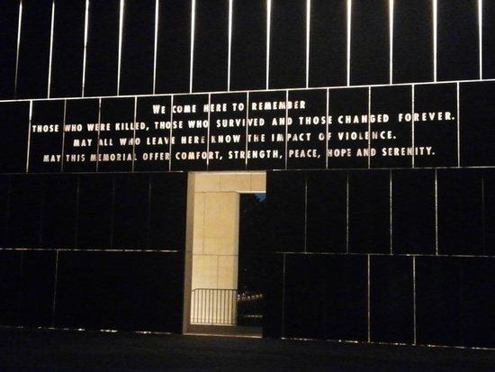 Oklahoma City National Memorial & Museum: Memorial entrance