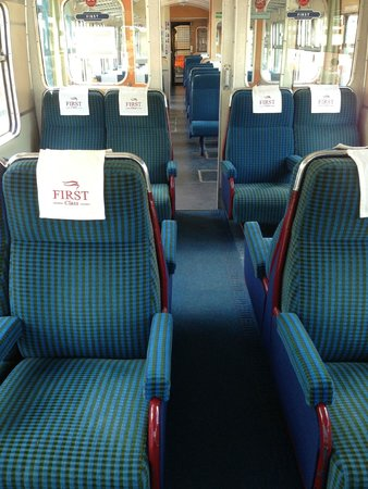 Ecclesbourne Valley Railway: Pay an extra quid and upgrade to First Class. Luxury!
