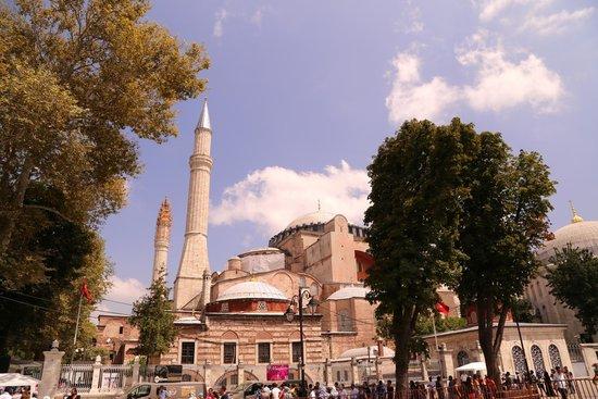 Hagia Sophia Museum / Church (Ayasofya): ピンク色の外観はテーマパークの建物のよう