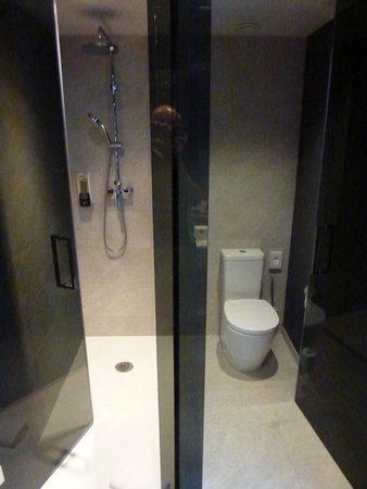 Hotel SB Plaza Europa: Douche Italienne et wc
