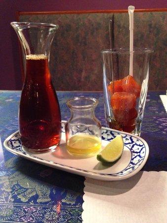 Thai Orchid Cuisine: Honey Lime Thai iced tea! Yummy!!!