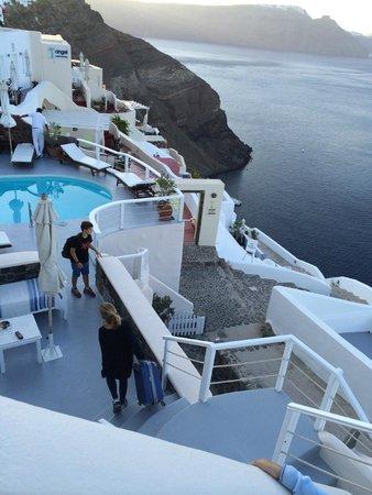 Delfini : Piscina y las terrazas del hotel