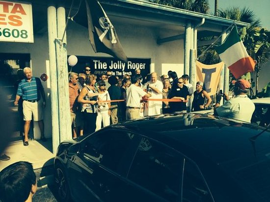 The Jolly Roger On The Beach: ribbon cutting 2014