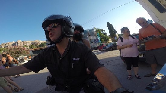 Ancient Agora of Athens: Riding our Harley in Ancient Agora