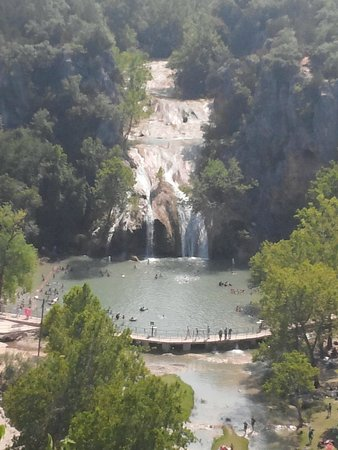 Turner Falls Park : Turner Falls from overlook